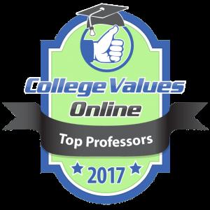 College Values Online - Top Professors 2017