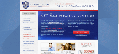National Paralegal College online associate degree programs