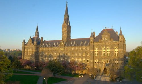 Georgetown University computer science degrees for international students
