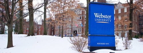 Webster University online master's in public relations