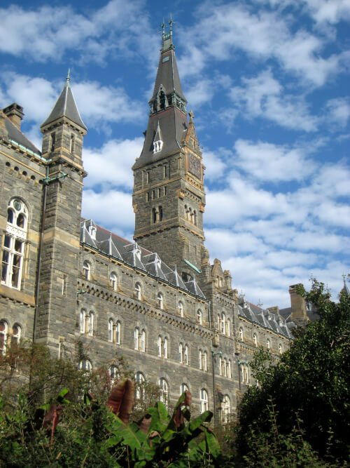Georgetown University online master's degree in public relations