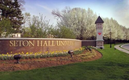 Seton Hall's online communications master's degree is designed to be completed in just 18 months.