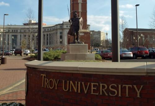 The online MS in strategic communication at Troy is only offered in the online format.