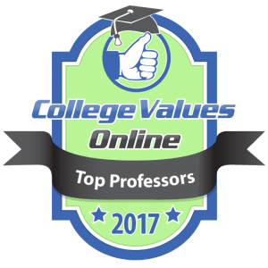 College Values Online - Top Professors 2017