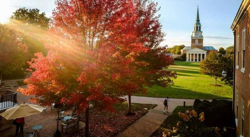 Wake Forest University-Best Value Conservative Colleges