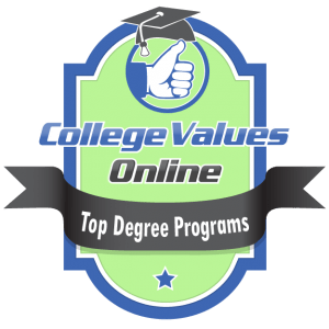 The badge awarded by College Values Online to the top degree programs