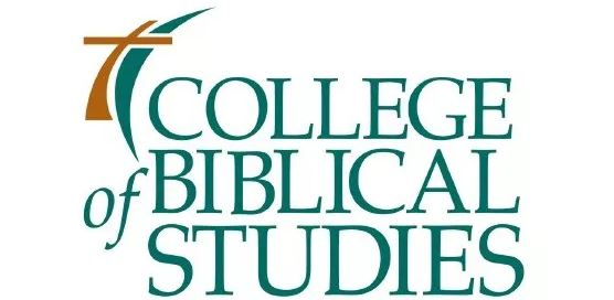 The logo of College of biblical studies which is the affordable online bible college
