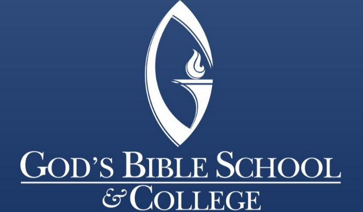 The logo for God's Bible school and college which has a great associates in theology