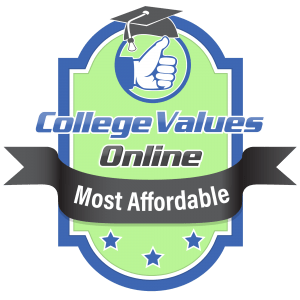 The badge awarded by college values online for the most affordable schools