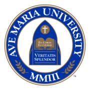 The logo for Ave Maria University which is one of the greatest republican colleges
