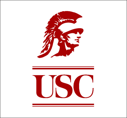 The logo for USC which is one of the best schools for rowing