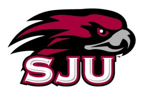 The logo for SJU which placed 13th in our article of college rowing rankings
