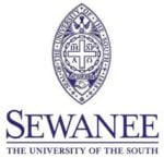 The logo for Sewanee which is Which isa great college in the appalachia