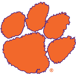 The logo for Clemson University which is on of the most conservative universities