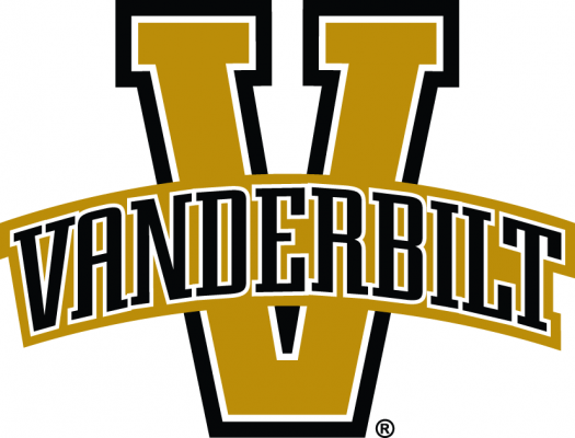 The logo for Vandy a top women's soccer colleges entry