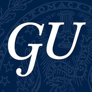 The logo for GU which is a great school if you want to up your rhodes scholar acceptance rate