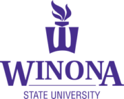 The logo for Winona State University which placed 13th in our ranking of best bachelor's degree in parks and recreation