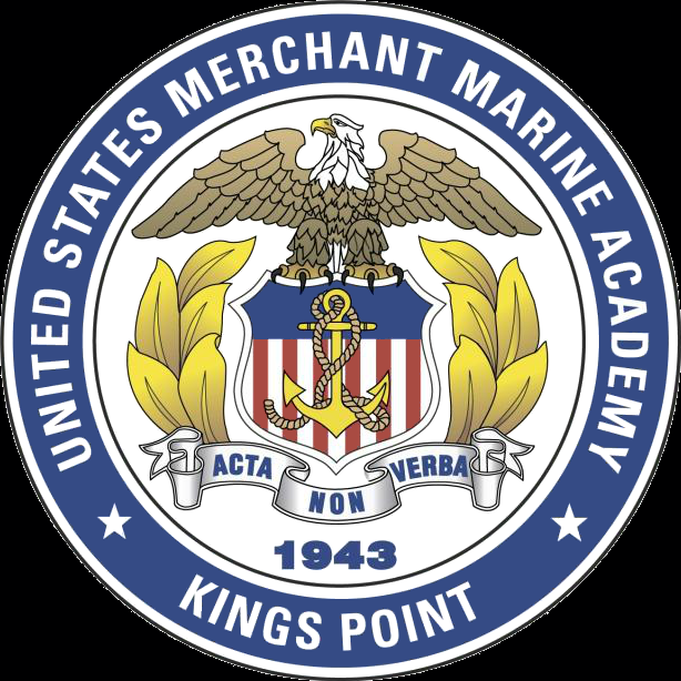 The logo for United States Merchant Marine Academy which is the 3rd best republican college