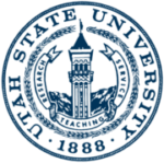 The logo for Utah State University which is one of the top schools for parks and recreation management