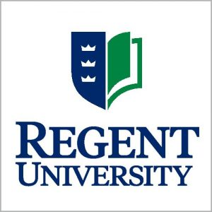 The logo for Regent University which placed 25th for schools with best online doctoral programs in educational leadership