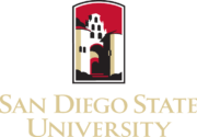 The logo fo San Diego State University which placed 18th for best parks and rec degree