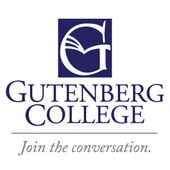The logo for Gutenberg College which is perfect if you want colleges northwest