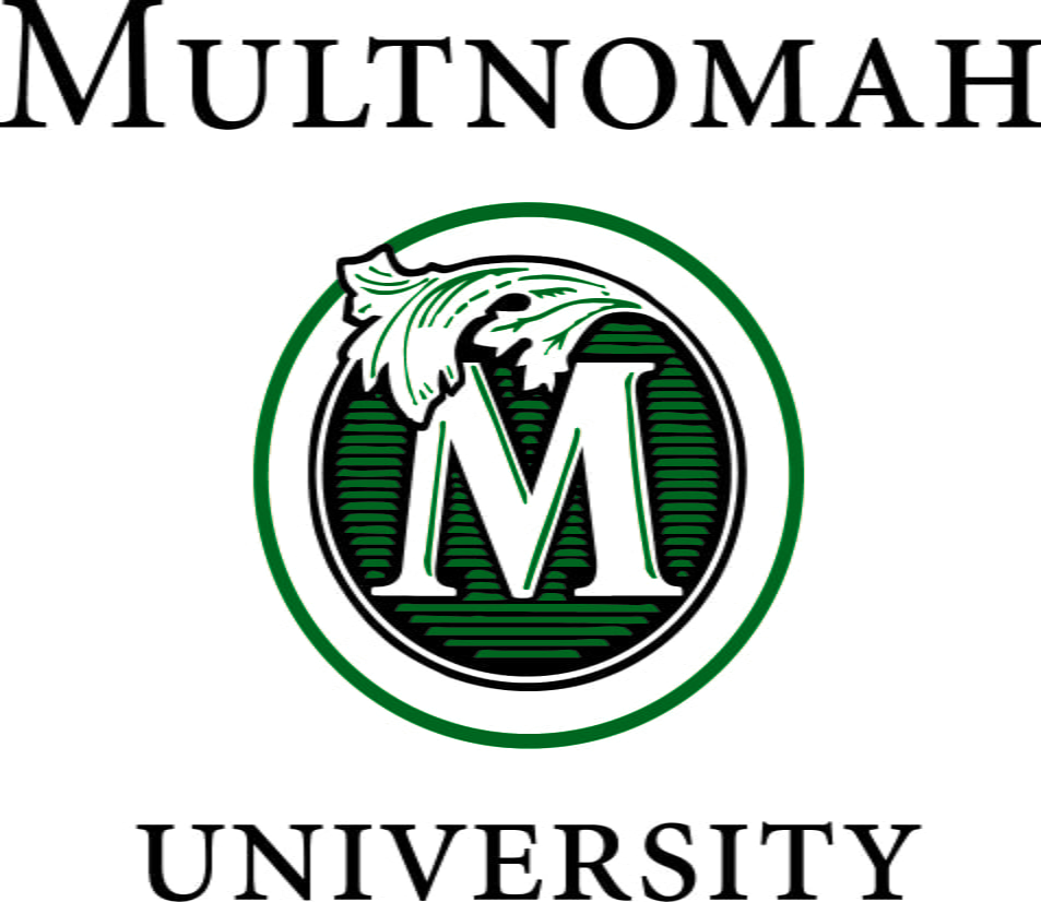 The logo for Multnomah University with is one of the top colleges in the pacific northwest
