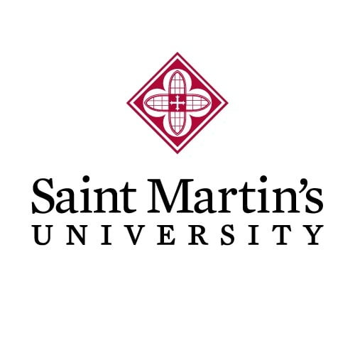 The logo for Saint Martin's University with is one of the best pacific northwest universities