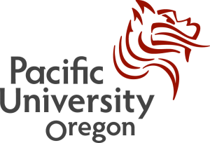 The logo for Pacific University with is a great option as far as affordable schools in the pacific northwest