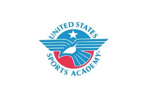 The logo for United States Sports Academy which offers a top Online EdD in Sports Management
