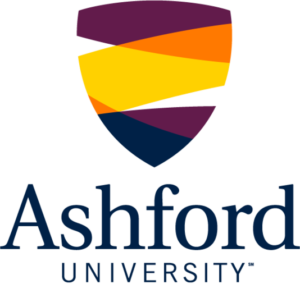 The logo for Ashford University which placed 4th for  top phd organizational psychology online