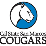 The logo for California State University which is a great affordable college beach