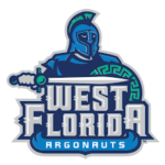 The logo for University of West Florida which is on of the top colleges on the east coast near the beach