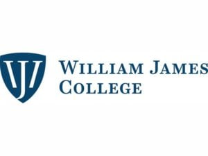 The logo for William James College which placed 15th for top online phd organizational psychology