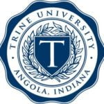 The logo for Trine University which offers a top Online Master of Science in Criminal Justice