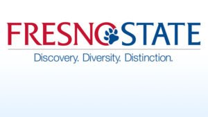 The logo for Fresno State University which offers a great Bachelor's in Food and Nutritional Sciences program