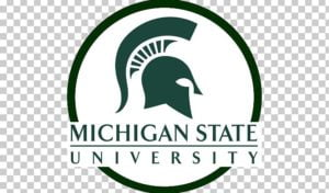 The logo for Michigan State University which is one of the  30 Best Value Food Science Degrees
