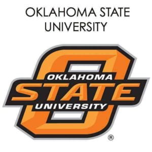The logo for Oklahoma State University which is a top valued school for food science programs.