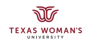 The logo for Texas Woman's University which placed 3rd in our ranking for best valued degrees in food science