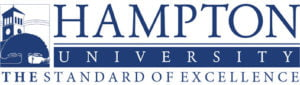 The logo for Hampton University which ranked 13th for top marine science colleges