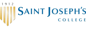 The logo for Saint Joseph's College of Maine with placed 16th for marine science degree