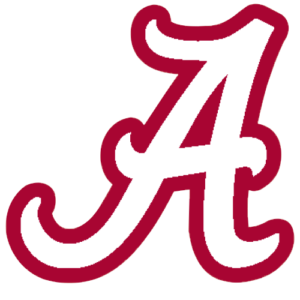 The logo for the University of Alabama which placed 6th on o list of top marine science colleges
