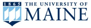 The logo for University of Maine which is 7th on our list of best marine science colleges