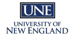The logo for University of New England which placed 17th for top marine science colleges