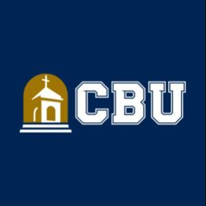 The logo for California Baptist which placed 17th in our marketing phd ranking