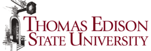 The logo for Thomas Edison State University which placed 14th for top marketing phd programs rankings