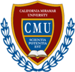 The logo for California Miramar University which is the second best school for online marketing phd programs