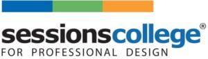The logo for Sessions College for Professional Design which is a top online colleges for photography