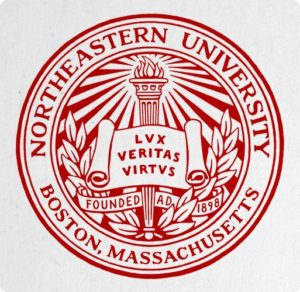 The logo for Northeastern University which is one of the top computer science schools undergraduate