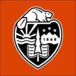 The logo for Oregon State University which placed 19th for the best college campuses in US